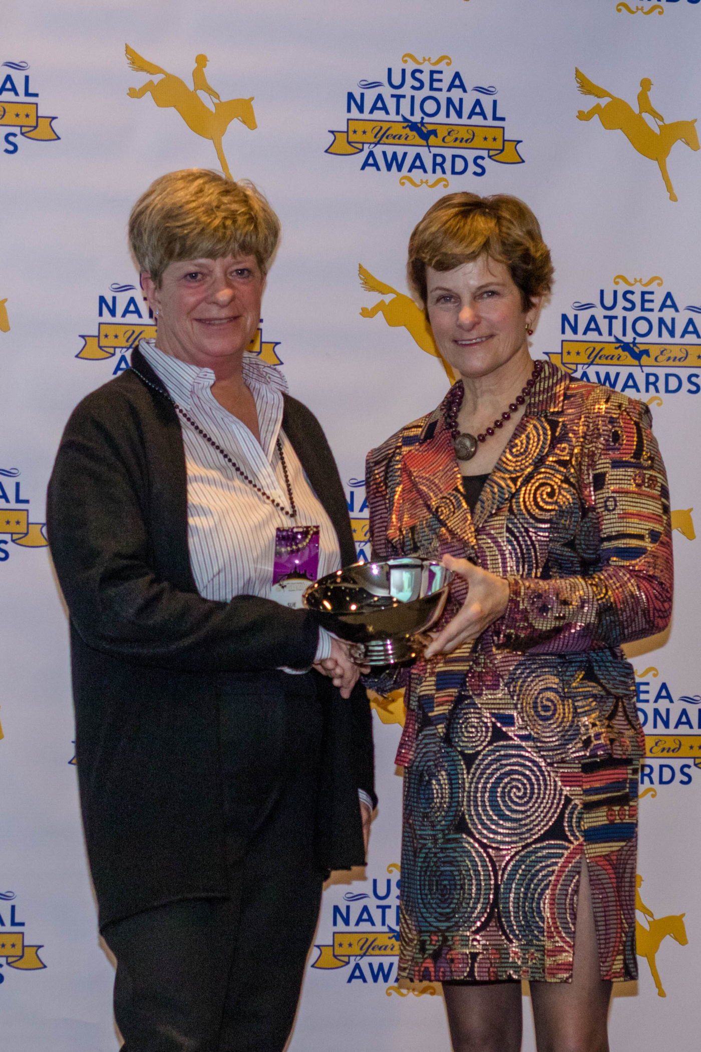 Sue Clarke receives a Governor's Cup