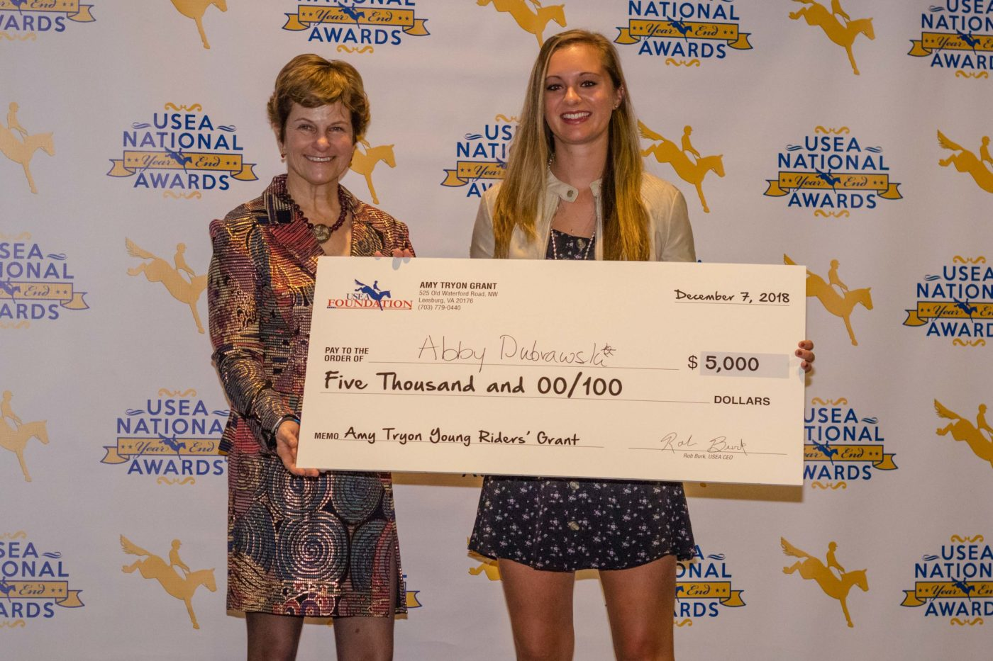 The $5,000 Amy Tryon Grant went to Abby Dubrawski.