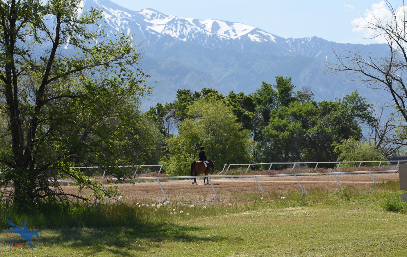 The best hacks are ones with mountains in the back. USEA/Claire Kelley Photo.