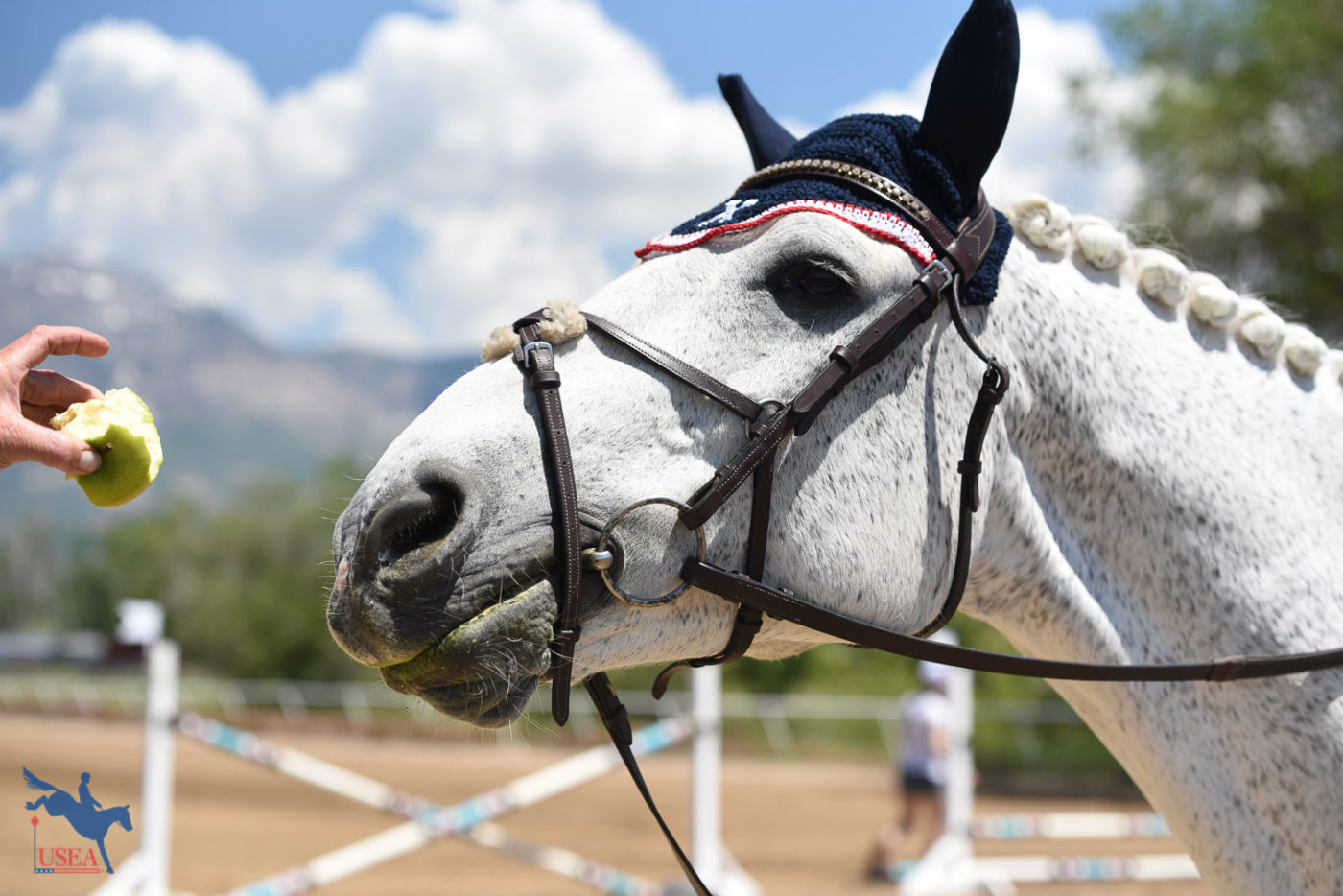 """Yeah, I like apples."" USEA/Claire Kelley Photo."