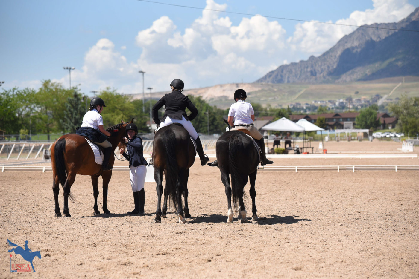 Waiting for their turn in the sandbox. USEA/Claire Kelley Photo.