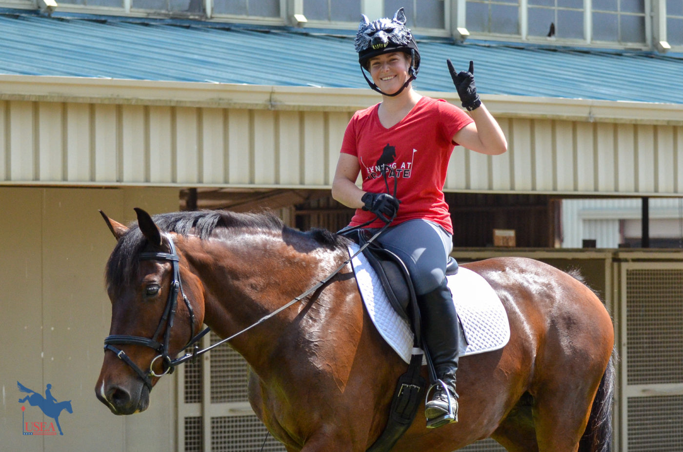 Wolfpack pride! USEA/Claire Kelley Photo.
