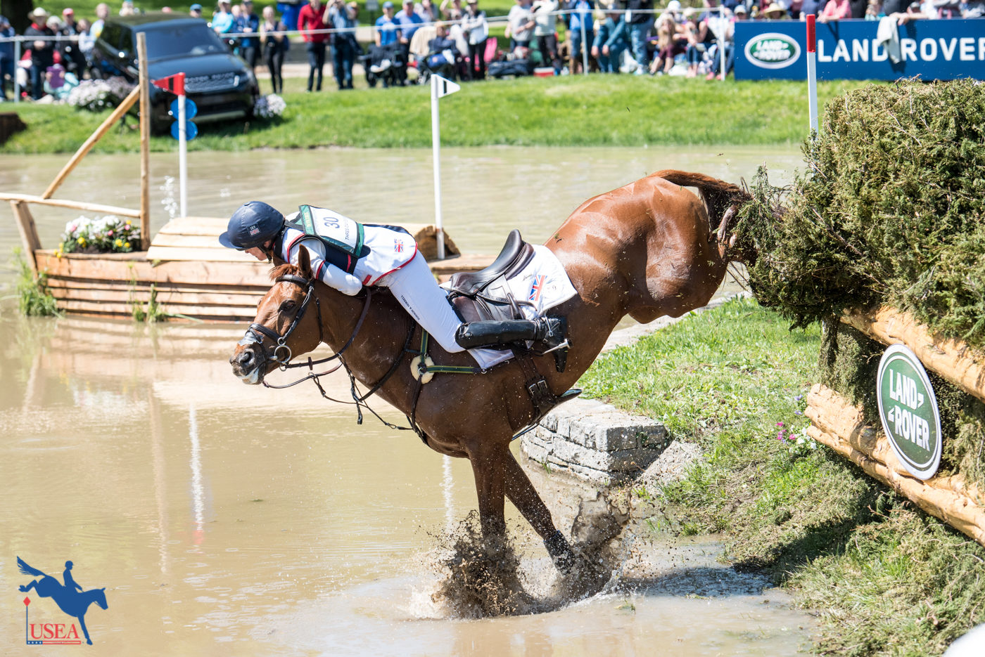 What a save from Piggy French! USEA/Leslie Mintz Photo.