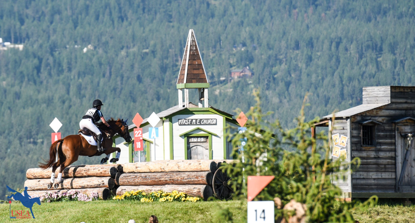 Don't forget to gallop through town on your way to the finish line! USEA/Leslie Mintz Photo.