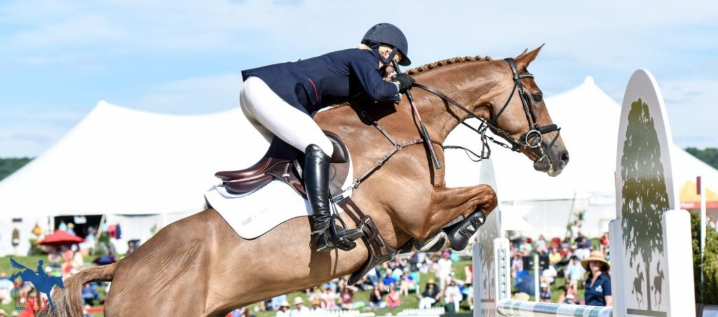 I think we need to find a shoulder guard for this chap! USEA/Leslie Mintz Photo.