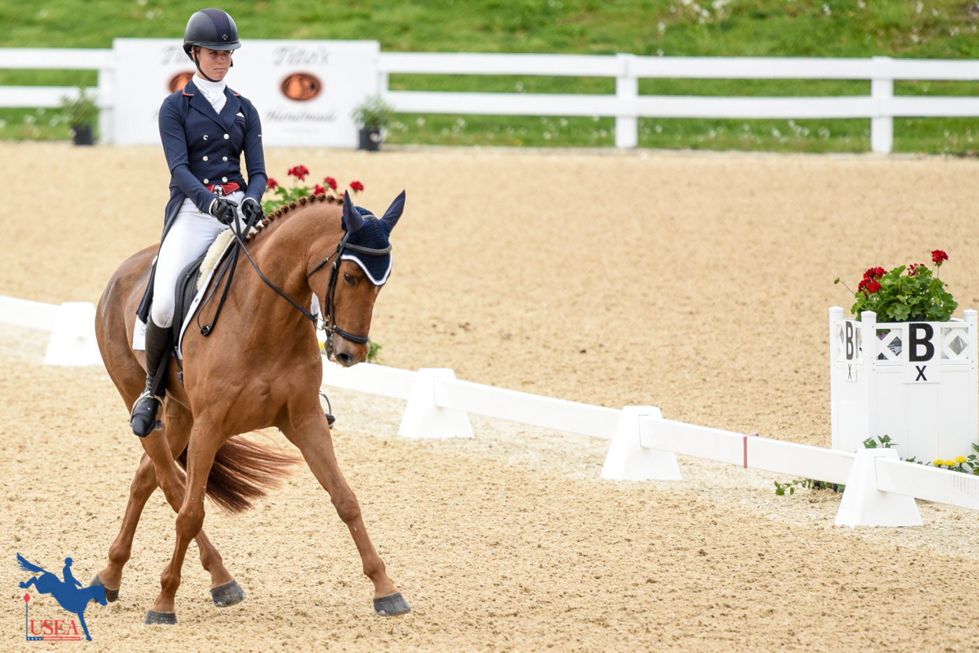 Caroline Martin and Danger Mouse were in perfect unison. USEA/Leslie Mintz Photo.