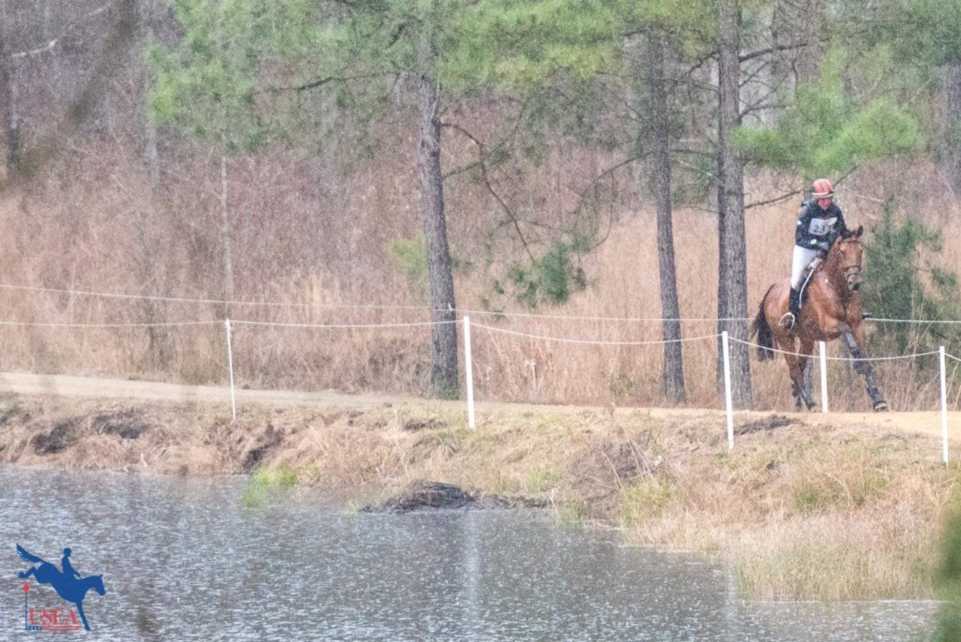 Through the woods and around the pond . . . a-cross-country we shall go. USEA/Leslie Mintz Photo.
