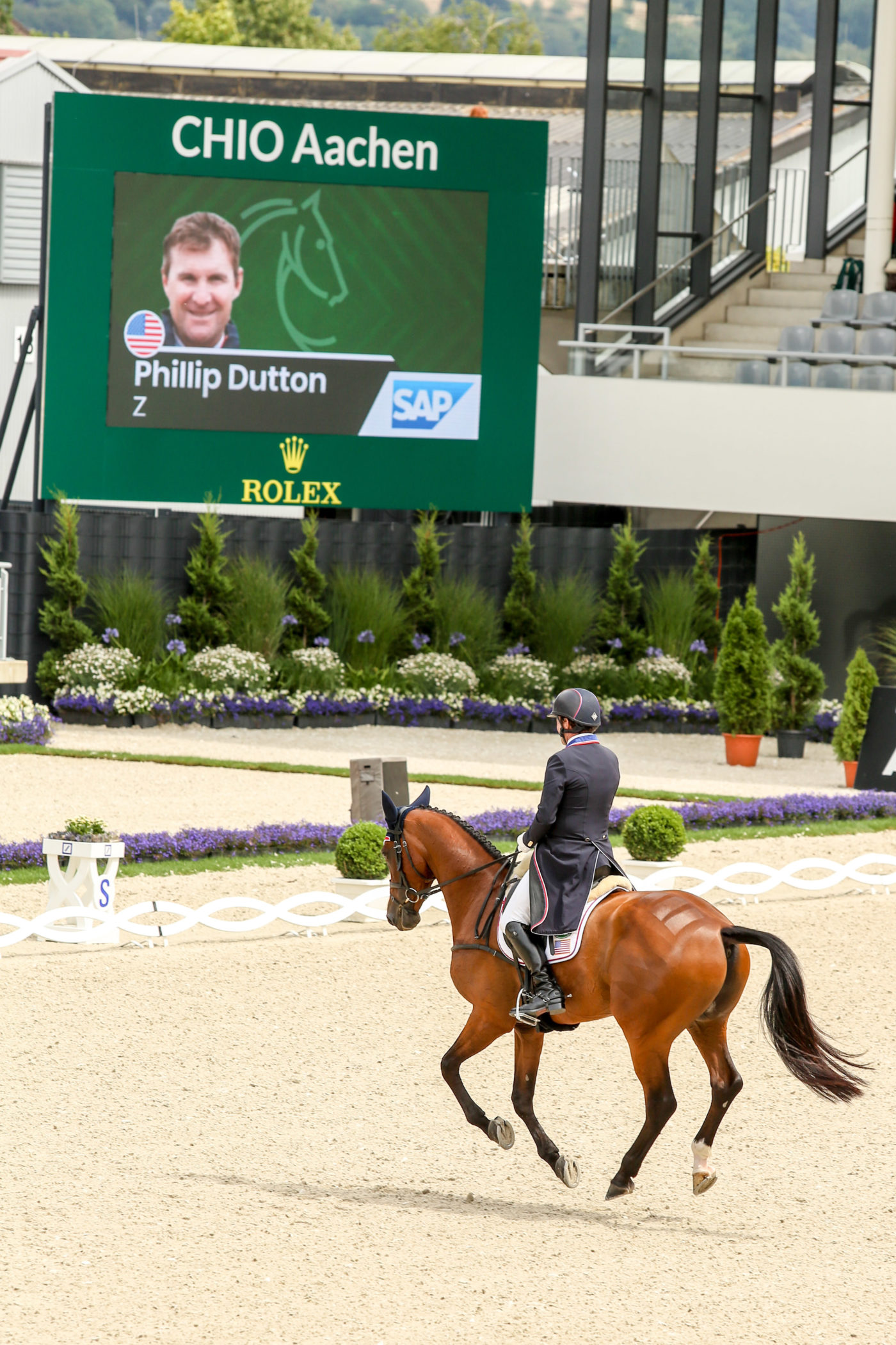 Phillip Dutton and Z in the dressage. Amber Heintzberger Photo.