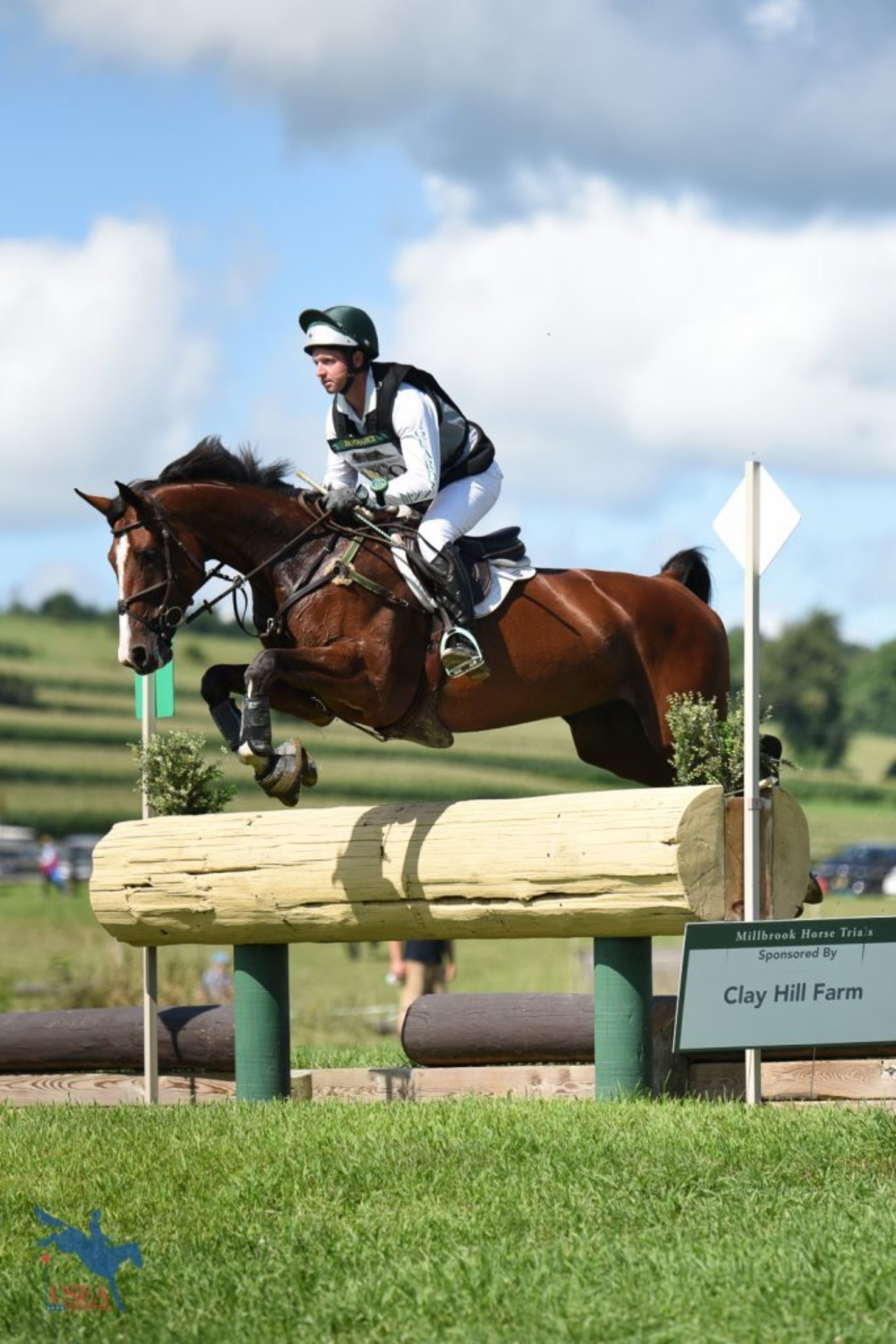 Tim Bourke and Looks Quality making the Preliminary brush rail look like child's play. USEA/Jessica Duffy Photo.