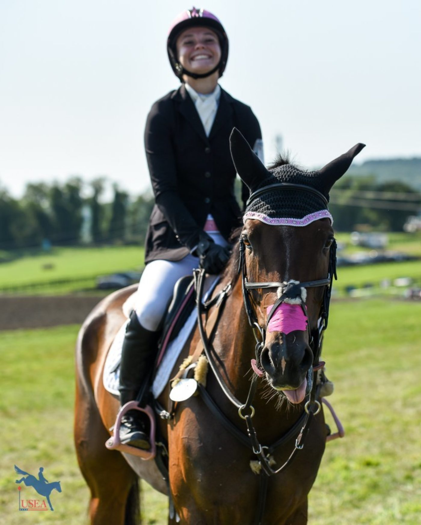 """Say cheese, Nils!"" USEA/Jessica Duffy Photo."