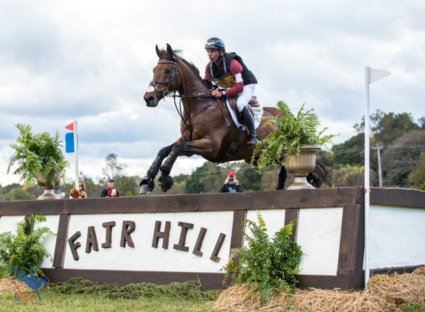 Dominic Schramm and Bolytair B in their first CCI3* since the spring of 2017. USEA/Jessica Duffy Photo.