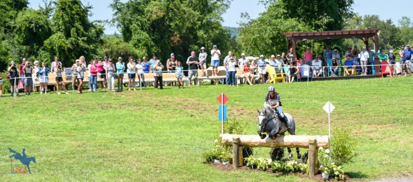 Crowds gathered under sunny skies to watch the finale of the Adequan USEA Gold Cup Advanced division. USEA/Jessica Duffy Photo.