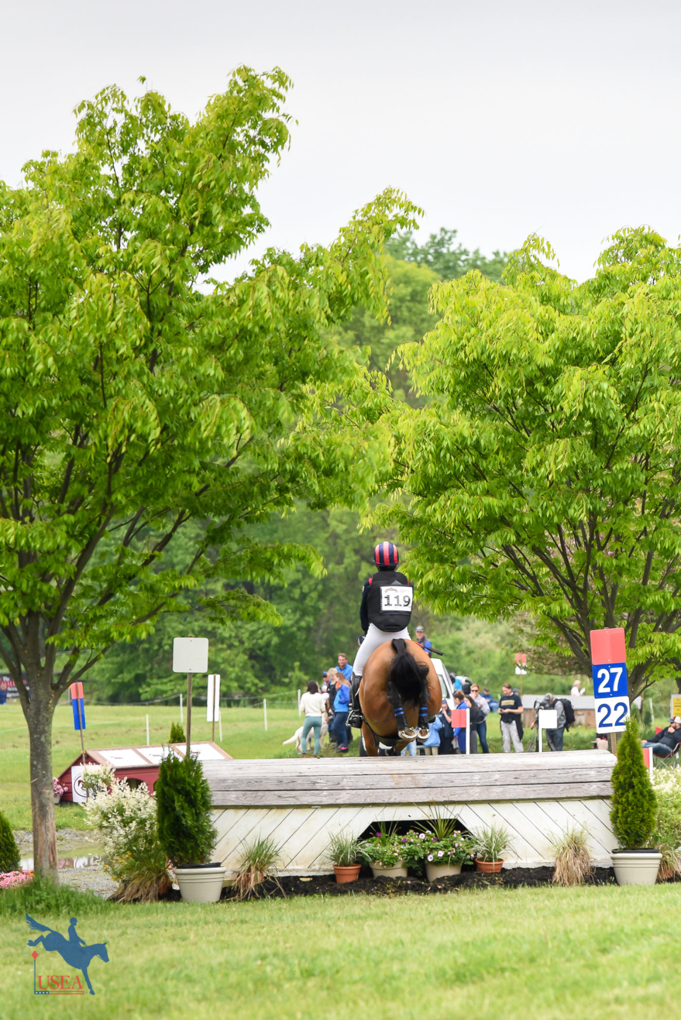 Over the boathouse and back to the Jersey Shore for Mara DePuy and Congo Brazzaville C. USEA/Jessica Duffy Photo.