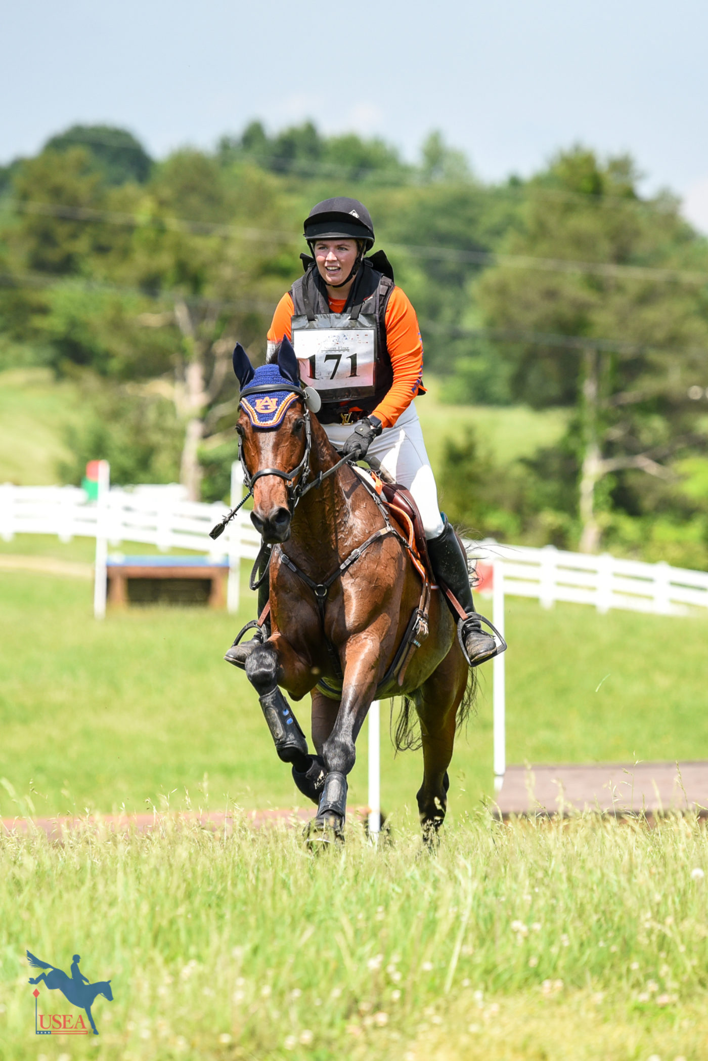 Auburn University's Lydia Kennedy and Double Dare headed for the last. USEA/Jessica Duffy Photo.