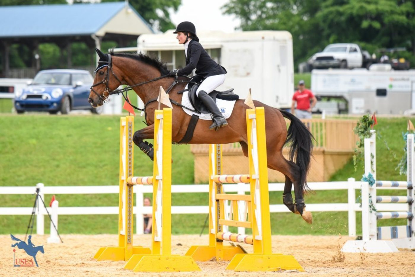 Mia Fox and Sport Tracker completing their first Preliminary level event as part of the University of Kentucky team. USEA/Jessica Duffy Photo.
