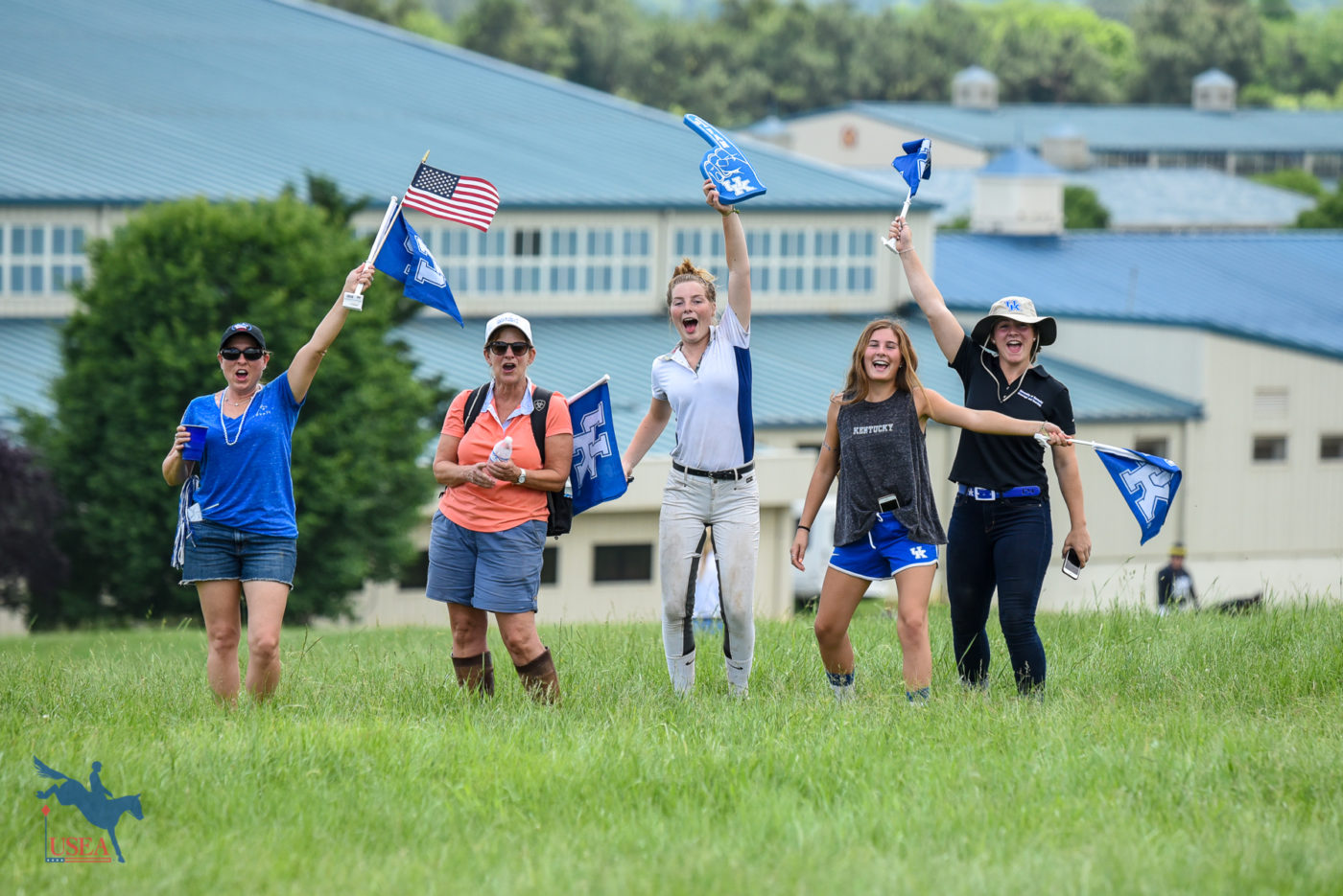Spirit Award winners University of Kentucky showing off their school pride! USEA/Jessica Duffy Photo.
