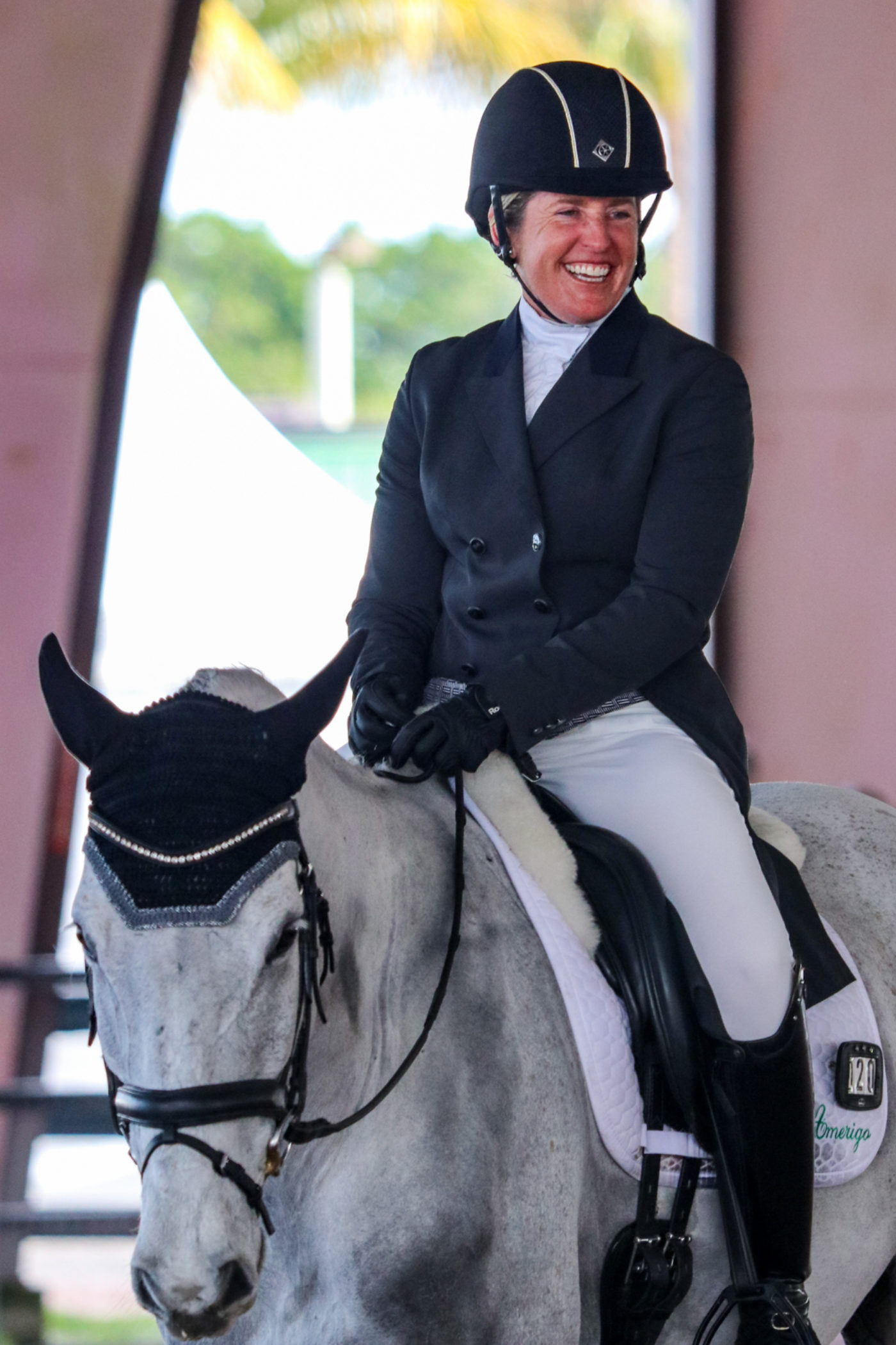 Sharon White was all smiles after Cooley On Show's test. Samantha Clark Photo.
