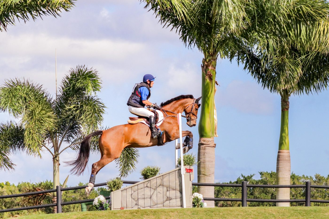 Phillip Dutton and Z jumped to third place. Samantha Clark Photo.