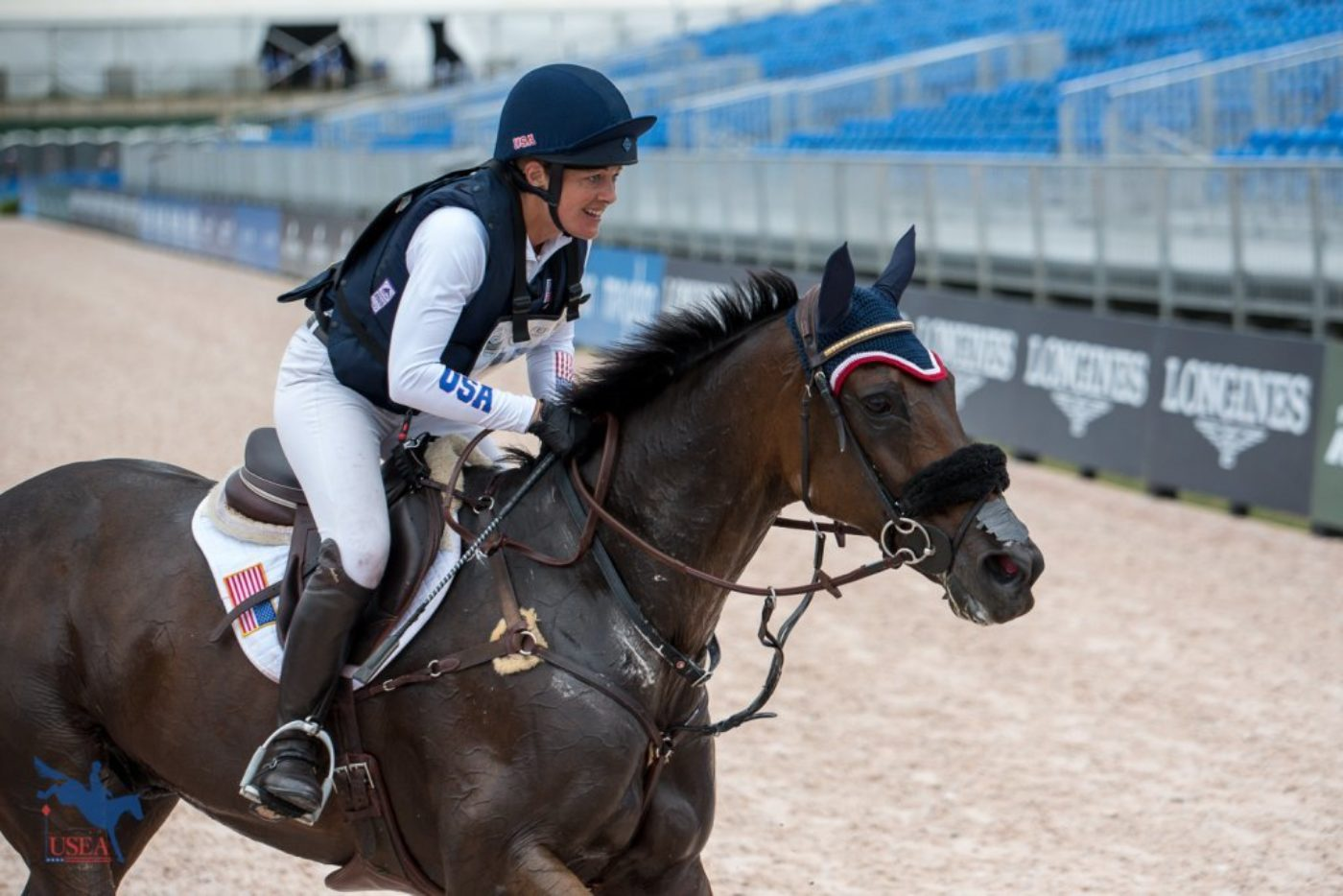 Lynn Symanksy and Donner bringing it home for Team USA. USEA/Jessica Duffy Photo.