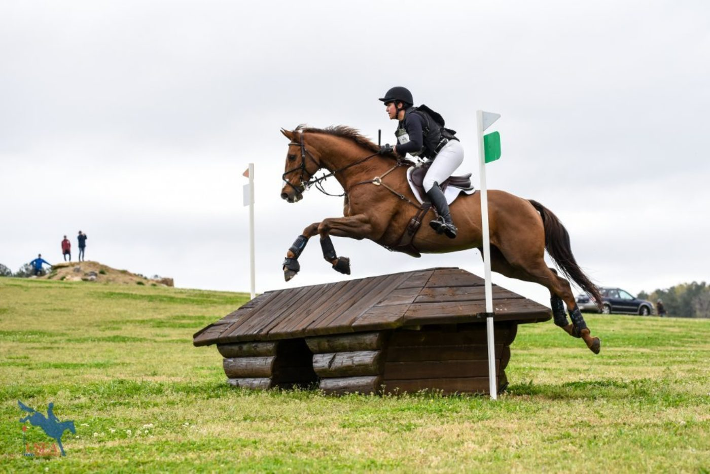 """I believe I can fly!"" USEA/Jessica Duffy Photo."