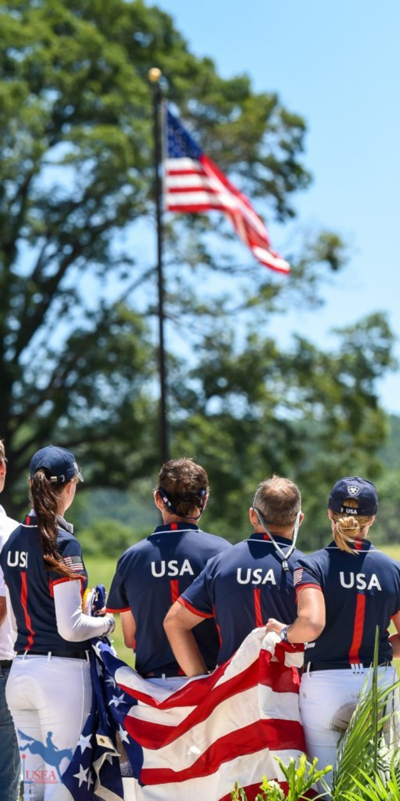 The United States FEI Eventing Nations Cup Team. USEA/Jessica Duffy Photo.