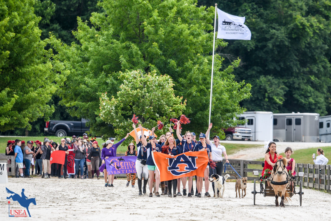 The Chattahoochee Hills flag flies proudly over the opening ceremony parade of competitors.