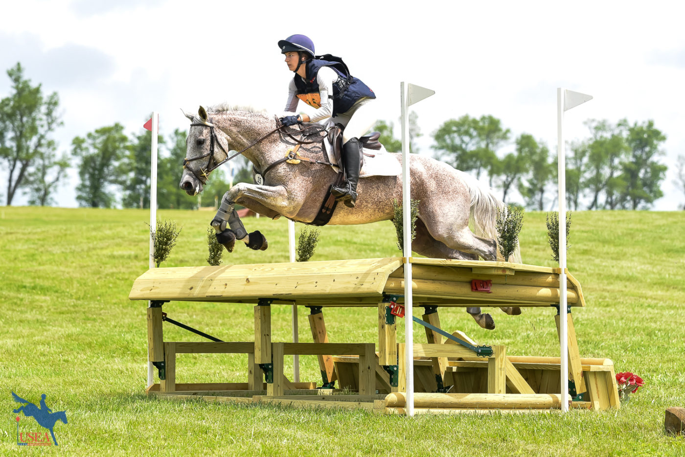 New frangible tables were on display at Plantation Field this weekend. USEA/Jessica Duffy Photo.
