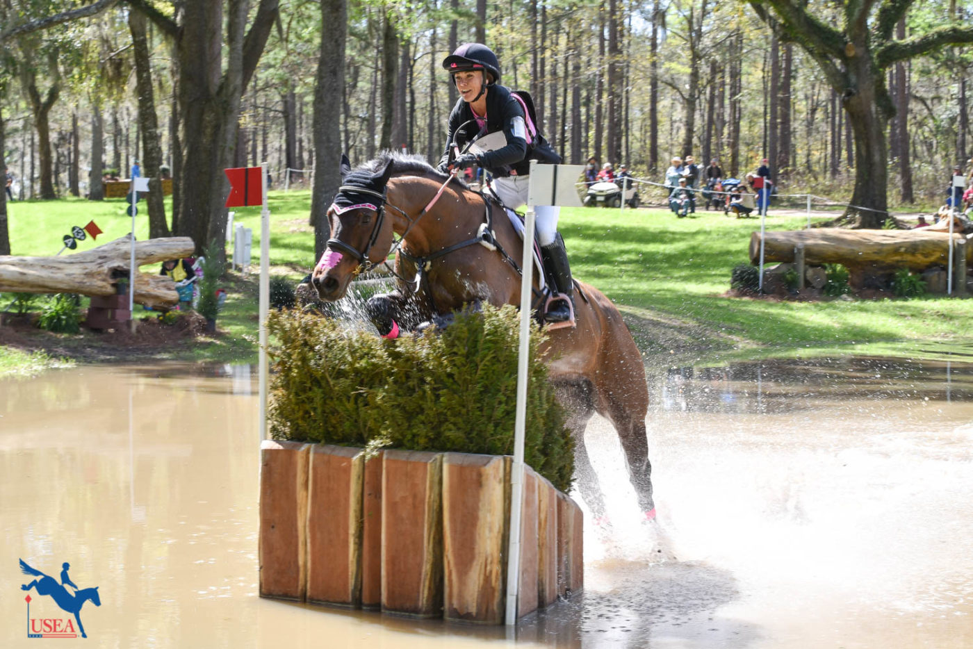 Charlotte Collier having so much fun with Clifford M, sitting in 10th place. USEA/Kate Lokey photo.