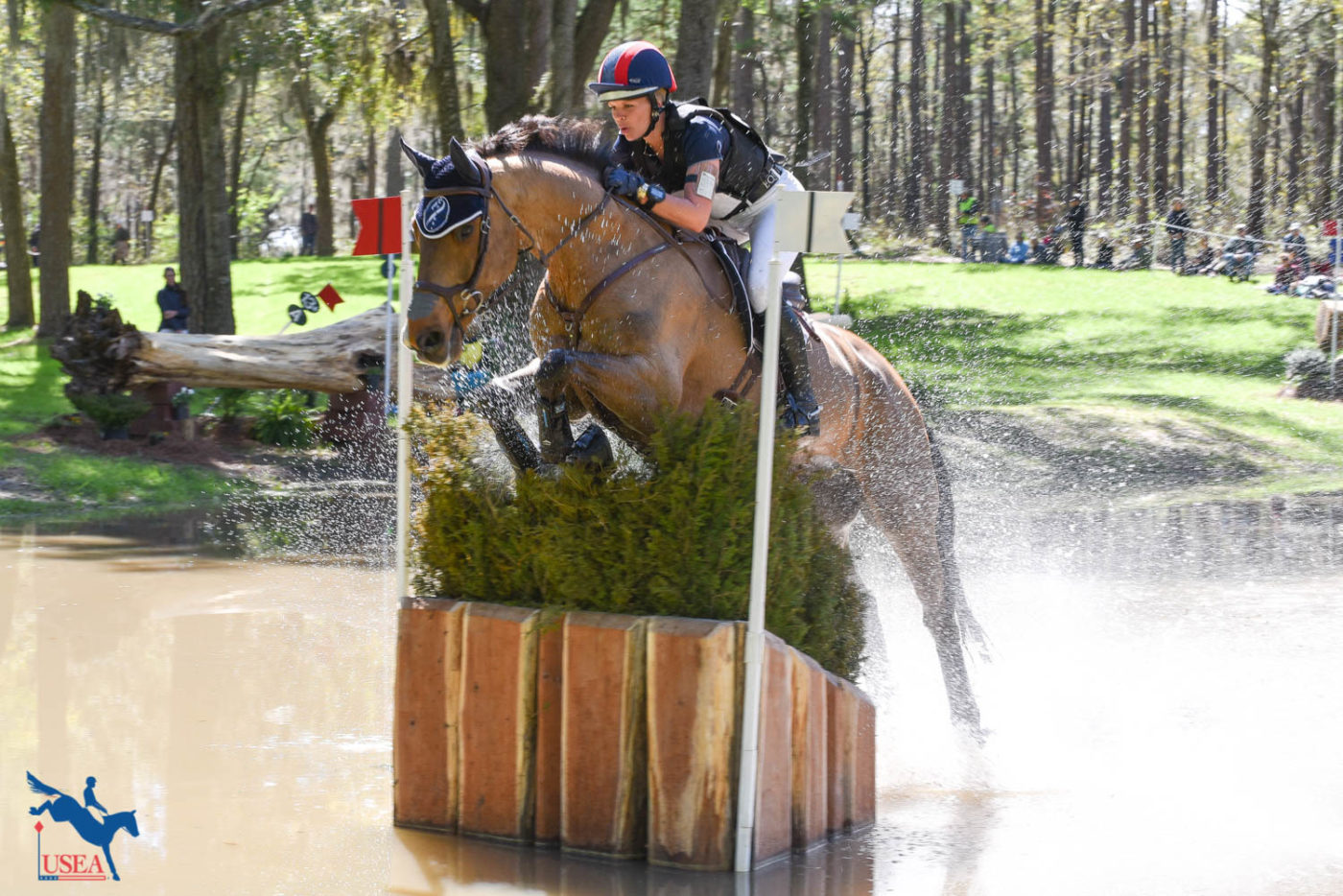 Alyssa Phillips and Oskar steal the lead in the Advanced division after cross-country! USEA/Kate Lokey photo.