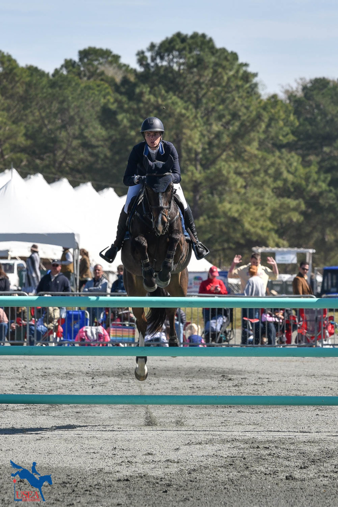 Hallie Coon and Celien take 3rd. USEA/Kate Lokey photo.