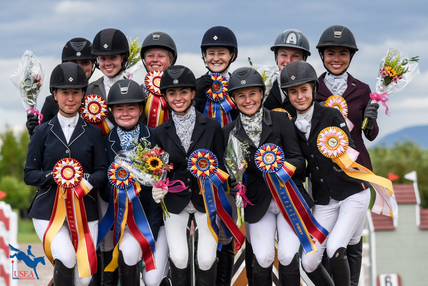 Loved that the T3D Young Riders had so much fun on the podium! USEA/Kate Lokey Photo.