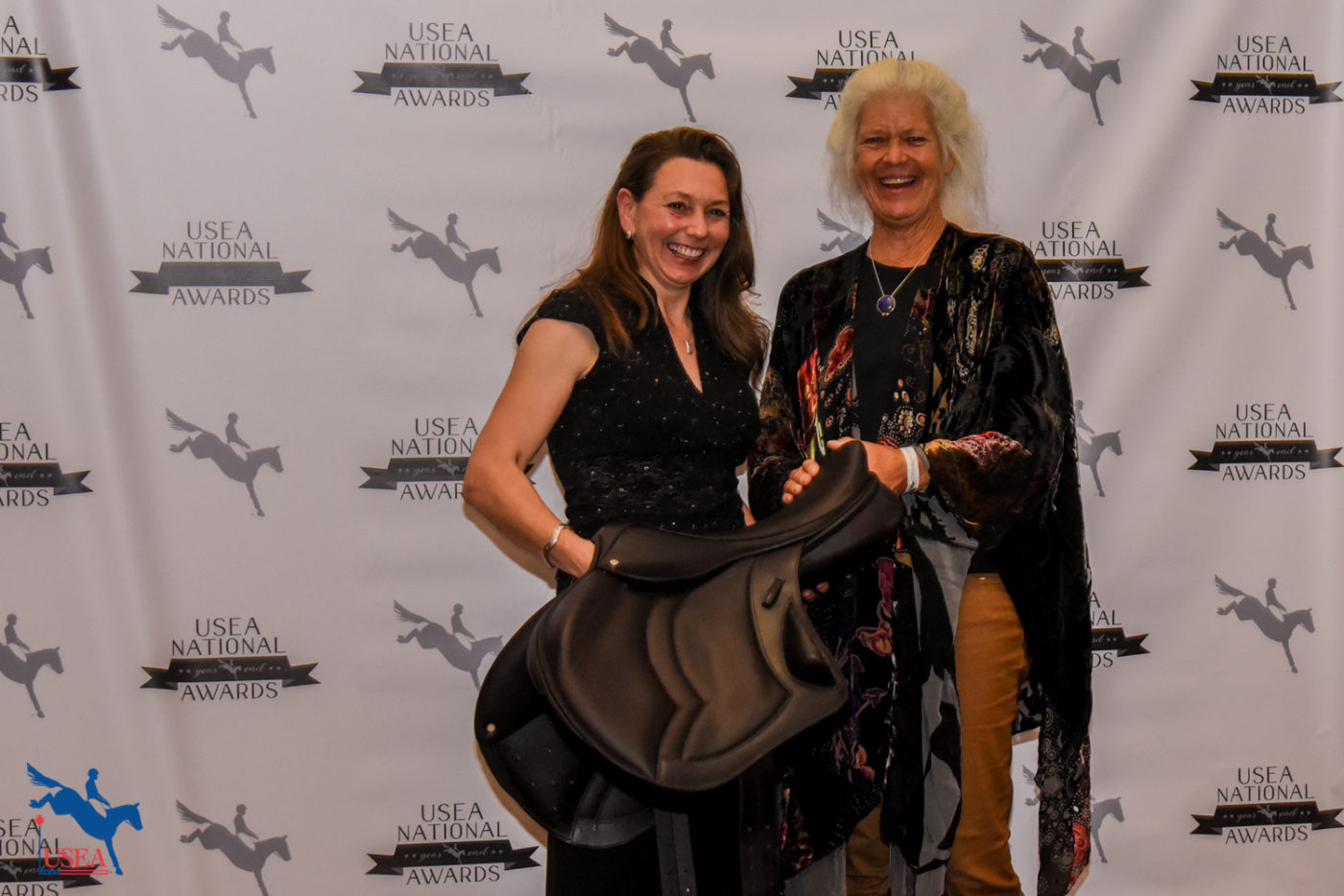 The winner of the Training Three-Day Event Stackhouse saddle drawing, Dr. Jennifer Miller.