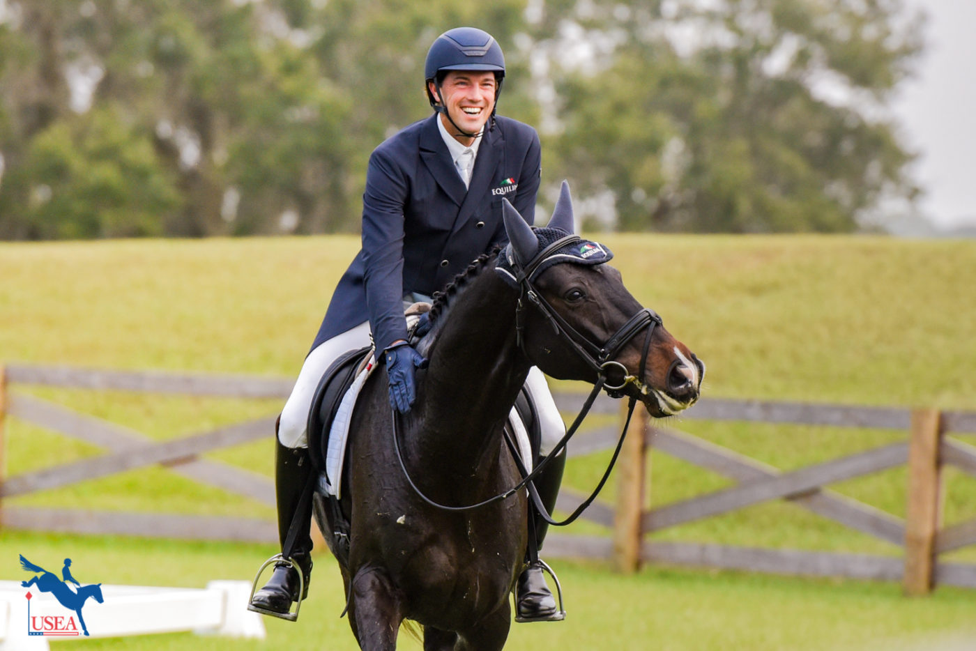 Will Coleman was all smiles after his dressage test.