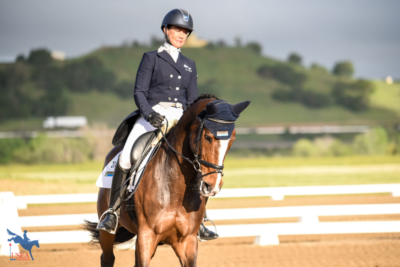 Tamra Smith and En Vogue were first into the ring on Friday morning. USEA/Jessica Duffy Photo.