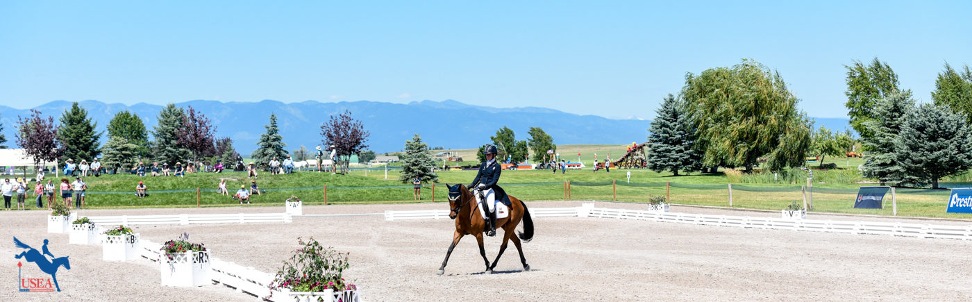 Could you ask for a better backdrop for three days of dressage? USEA/Leslie Mintz Photo.