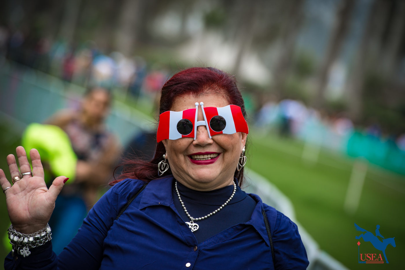 A Peruvian spectator showing her national pride. Erin Gilmore Photo.