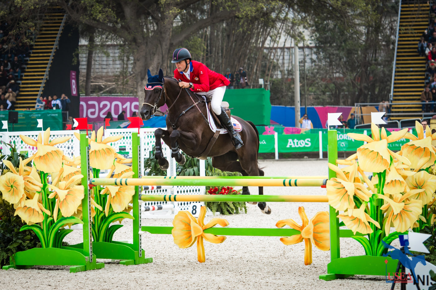 Boyd Martin and Tsetserleg clinch the team and individual gold medal with a faultless round. Erin Gilmore Photo.